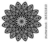 mandala black. decorative... | Shutterstock .eps vector #365321810