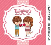 love card design  | Shutterstock .eps vector #365326964