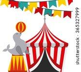 circus show design  | Shutterstock .eps vector #365327999