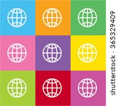 globe icon for web and mobile | Shutterstock .eps vector #365329409