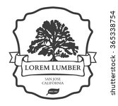lumber shop label design... | Shutterstock . vector #365338754