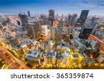 osaka  japan cityscape aerial... | Shutterstock . vector #365359874