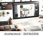 design studio creativity ideas... | Shutterstock . vector #365363306