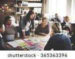 corporate achievement teamwork... | Shutterstock . vector #365363396
