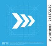 vector next arrow icon | Shutterstock .eps vector #365372150