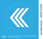 vector back arrow icon. vector... | Shutterstock .eps vector #365372249
