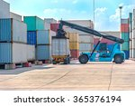 crane lifting up container in... | Shutterstock . vector #365376194
