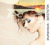 portrait of beautiful sensual... | Shutterstock . vector #365376734