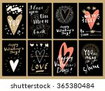 hand drawn valentine's day... | Shutterstock .eps vector #365380484
