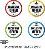 exclusive offer guarantee ... | Shutterstock .eps vector #365381990