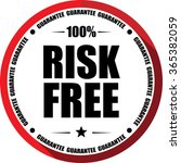 100  risk free guarantee red ... | Shutterstock . vector #365382059