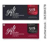 gift voucher template vector...   Shutterstock .eps vector #365384378