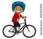 vector illustration of a boy... | Shutterstock .eps vector #365391596