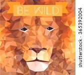 low poly design. lion... | Shutterstock .eps vector #365392004