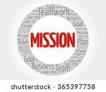 mission circle word cloud ... | Shutterstock .eps vector #365397758