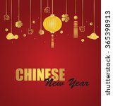 chinese new year design. vector ... | Shutterstock .eps vector #365398913