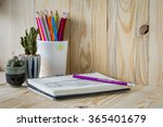 close up view of the office... | Shutterstock . vector #365401679