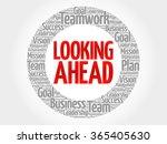 looking ahead circle word cloud ... | Shutterstock .eps vector #365405630