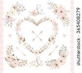 vector flower  spring summer... | Shutterstock .eps vector #365408279
