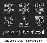 set of vintage thank you badges.... | Shutterstock .eps vector #365409389