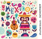 bright colorful stylish vector... | Shutterstock .eps vector #365409809