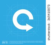 vector refresh icon  vector... | Shutterstock .eps vector #365410073