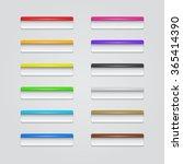 set of rectangle plastic... | Shutterstock . vector #365414390