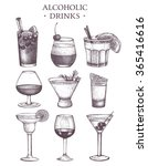 vector set of vintage alcoholic ... | Shutterstock .eps vector #365416616