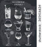 vector set of vintage alcoholic ... | Shutterstock .eps vector #365416634