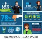 vector infographics design with ... | Shutterstock .eps vector #365419220