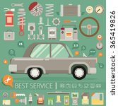 flat vector icons and...   Shutterstock .eps vector #365419826