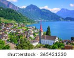 Little Swiss Town With Gothic...