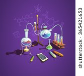 chemistry science concept with... | Shutterstock .eps vector #365421653
