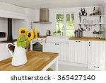 Sunflowers In Kitchen