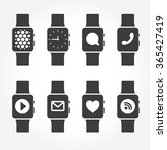 smart watch phone icons. vector ...
