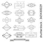 set of line style logotypes.... | Shutterstock .eps vector #365430029