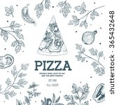 pizza design template. vector... | Shutterstock .eps vector #365432648