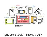 flat style  thin line art... | Shutterstock .eps vector #365437019