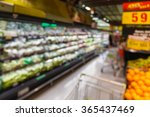 blurred of vegetable on shelf... | Shutterstock . vector #365437469