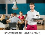 portrait of confident waiter... | Shutterstock . vector #365437574