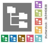 folder structure flat icon set...