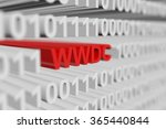 wwdc represented as a binary... | Shutterstock . vector #365440844