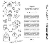 hand drawn doodle love and... | Shutterstock .eps vector #365443748