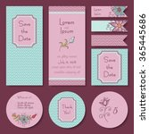 vector set of wedding  baby... | Shutterstock .eps vector #365445686