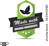 made with organic ingredients... | Shutterstock .eps vector #365445980