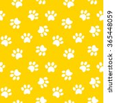 Stock vector paw print seamless pattern 365448059