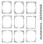 set calligraphic frames.vintage ... | Shutterstock .eps vector #365456468