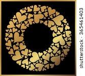 valentine's day vector gold... | Shutterstock .eps vector #365461403