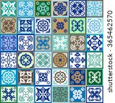 creative tile set with ethnic ... | Shutterstock .eps vector #365462570