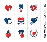 set color icons of heart... | Shutterstock .eps vector #365467016